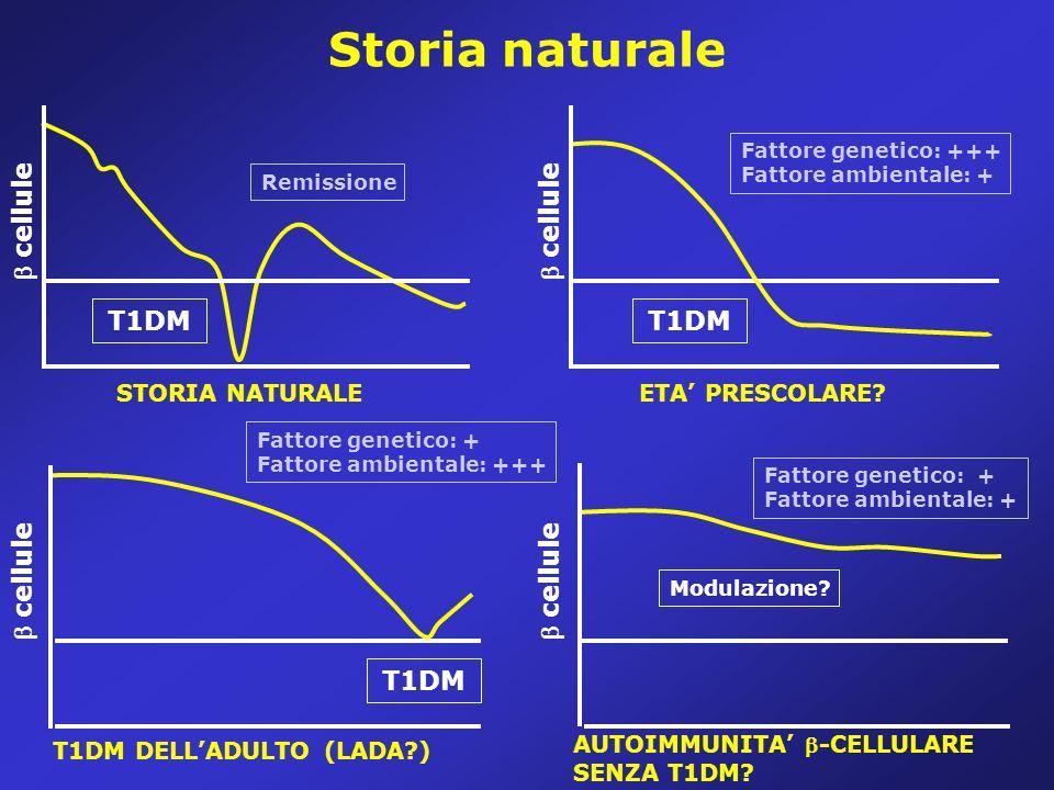 Storia naturale  cellule  cellule T1DM T1DM  cellule  cellule T1DM