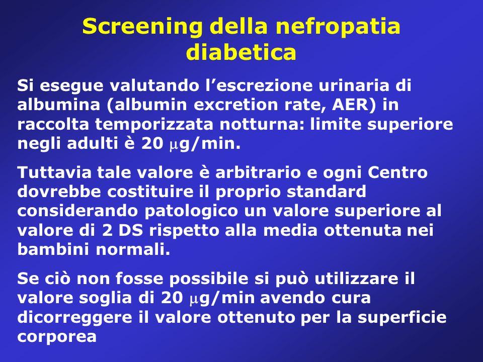 Screening della nefropatia diabetica