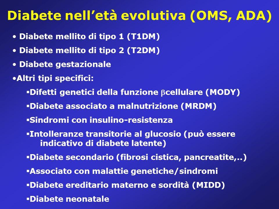 Diabete nell'età evolutiva (OMS, ADA)