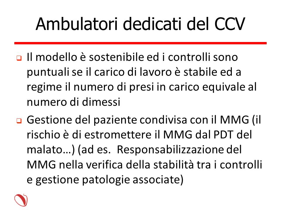 Ambulatori dedicati del CCV