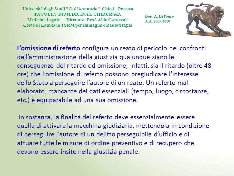 Università degli Studi G. d Annunzio Chieti – Pescara
