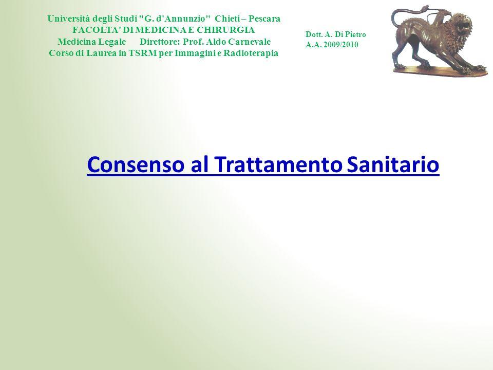 Consenso al Trattamento Sanitario