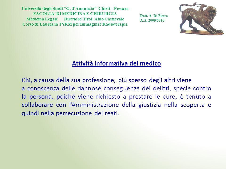 Attività informativa del medico