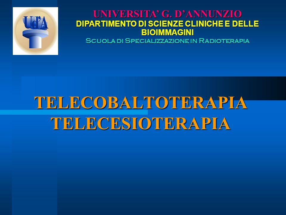 TELECOBALTOTERAPIA TELECESIOTERAPIA