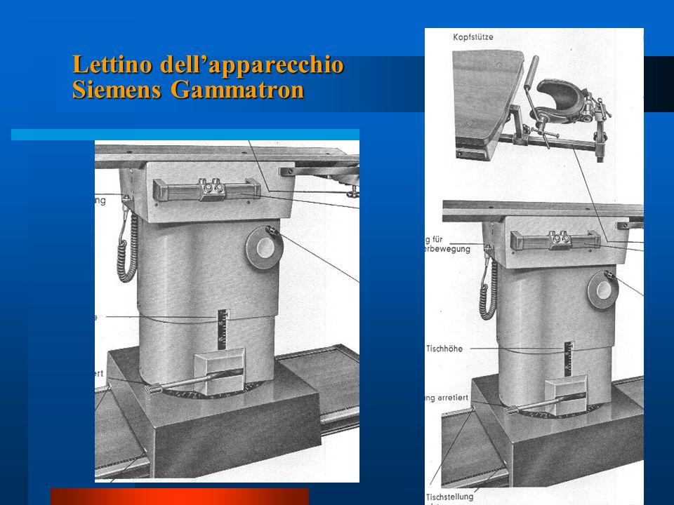 Lettino dell'apparecchio Siemens Gammatron