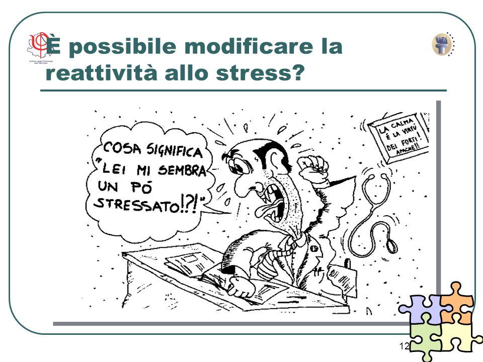 È possibile modificare la reattività allo stress