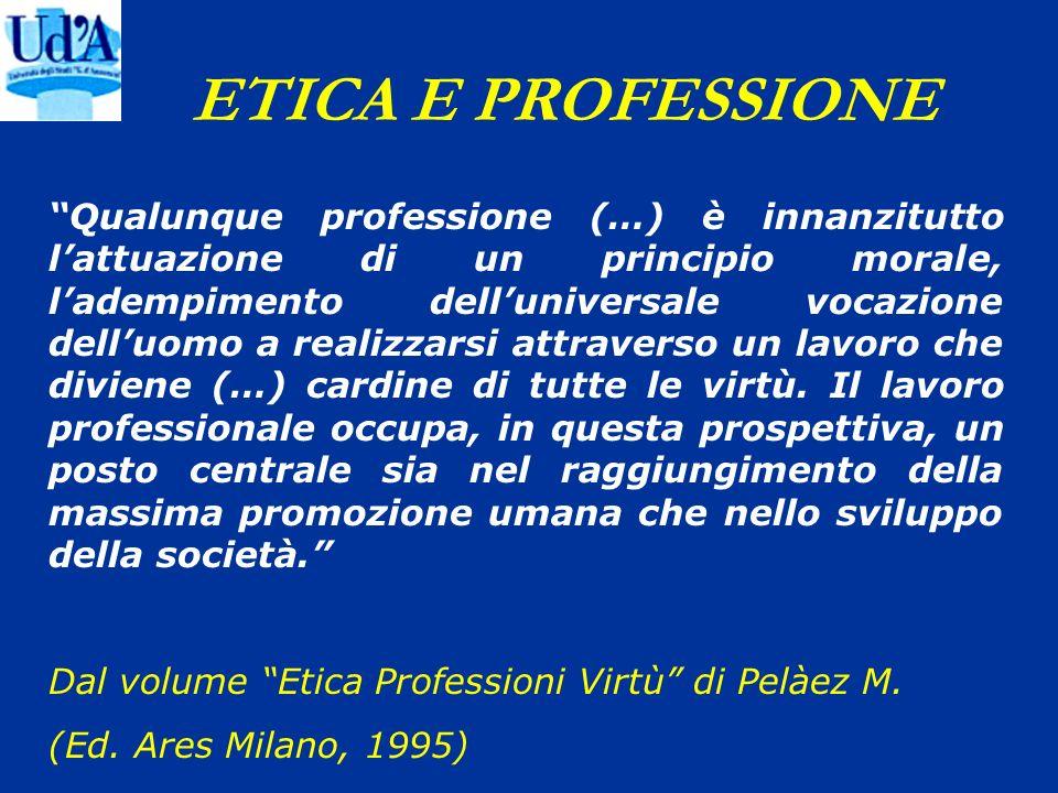 ETICA E PROFESSIONE