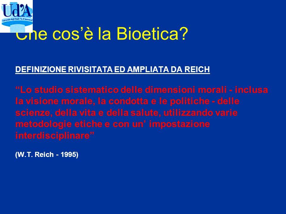 Che cos'è la Bioetica.
