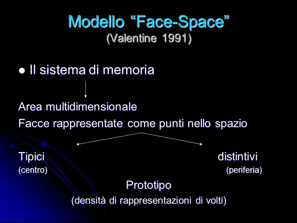 Modello Face-Space (Valentine 1991)