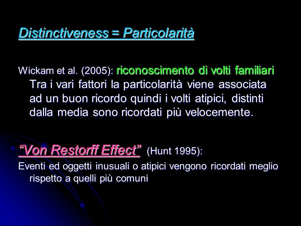 Distinctiveness = Particolarità