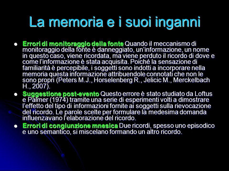 La memoria e i suoi inganni