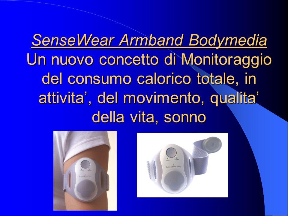 SenseWear Armband Bodymedia Un nuovo concetto di Monitoraggio del consumo calorico totale, in attivita', del movimento, qualita' della vita, sonno