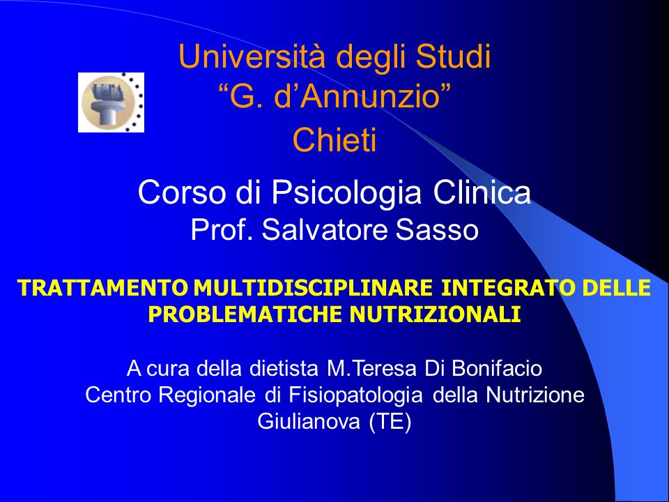 Università degli Studi G. d'Annunzio Chieti
