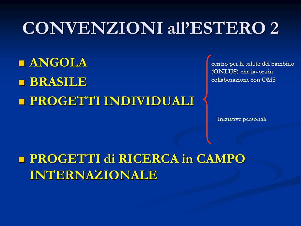 CONVENZIONI all'ESTERO 2