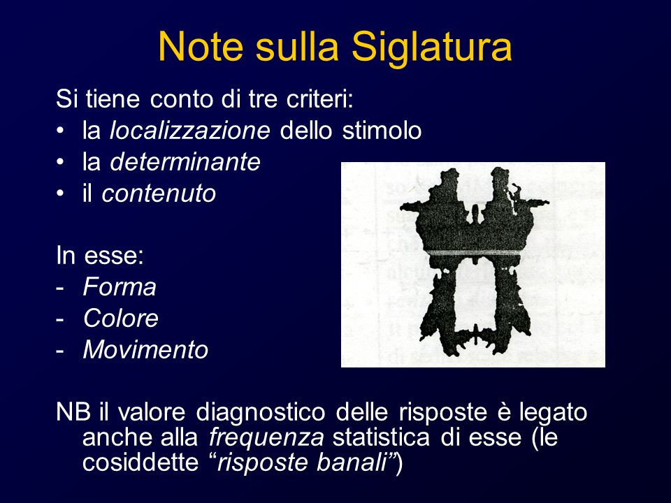Note sulla Siglatura Si tiene conto di tre criteri: