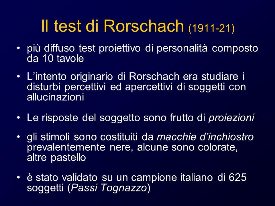 Il test di Rorschach (1911-21)