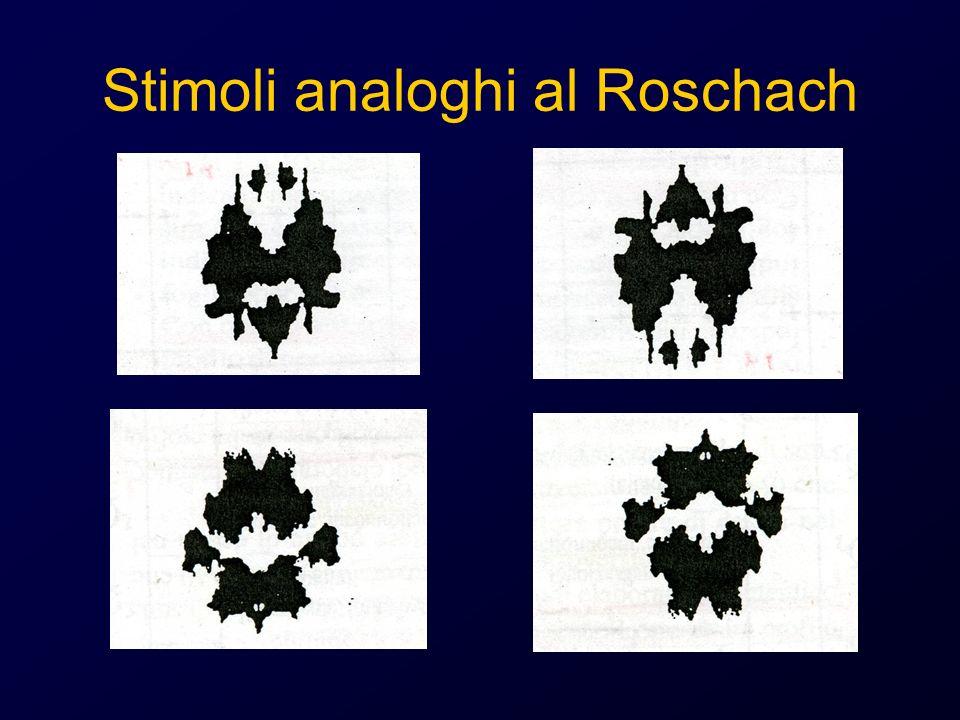 Stimoli analoghi al Roschach