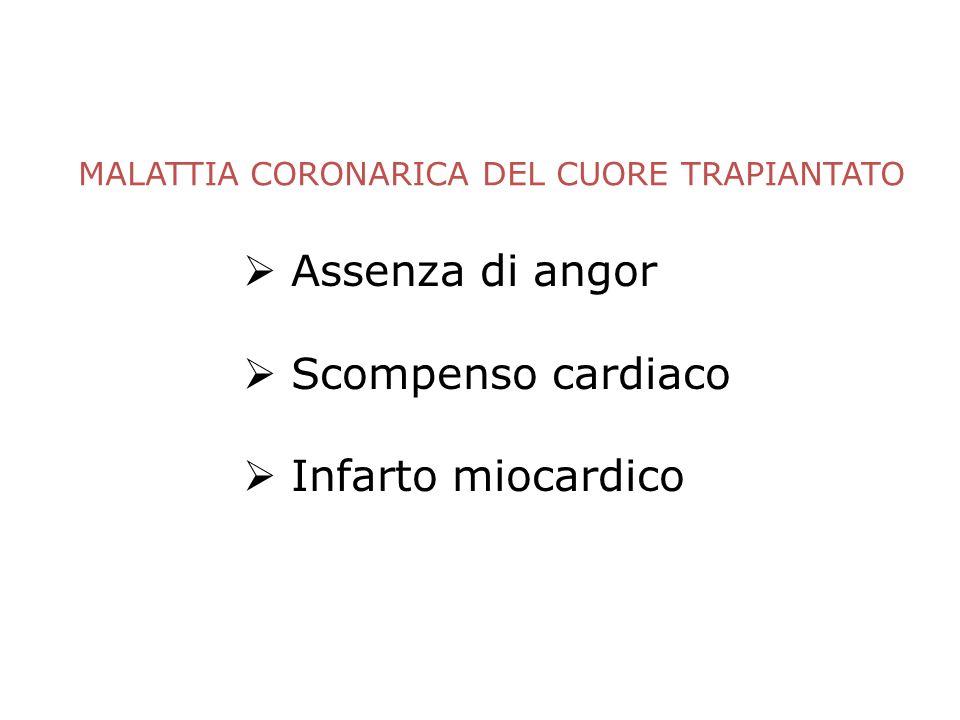 MALATTIA CORONARICA DEL CUORE TRAPIANTATO