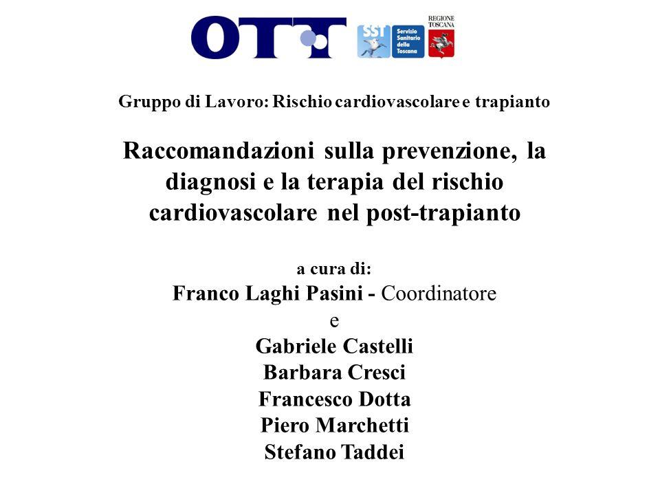 Gruppo di Lavoro: Rischio cardiovascolare e trapianto