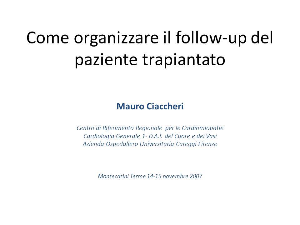 Come organizzare il follow-up del paziente trapiantato