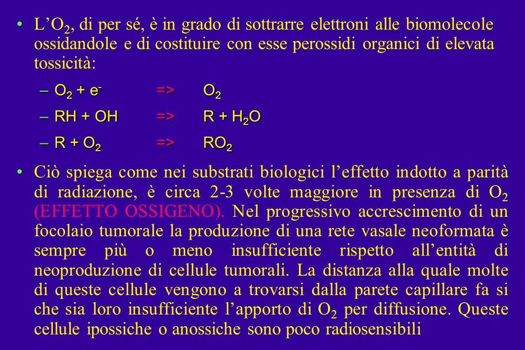 L'O2, di per sé, è in grado di sottrarre elettroni alle biomolecole ossidandole e di costituire con esse perossidi organici di elevata tossicità: