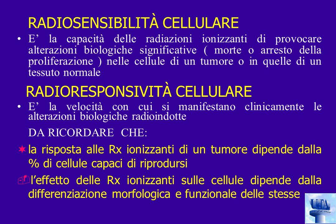RADIOSENSIBILITÀ CELLULARE