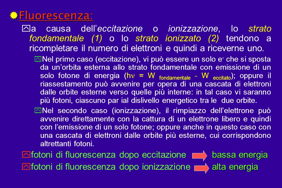 Fluorescenza: