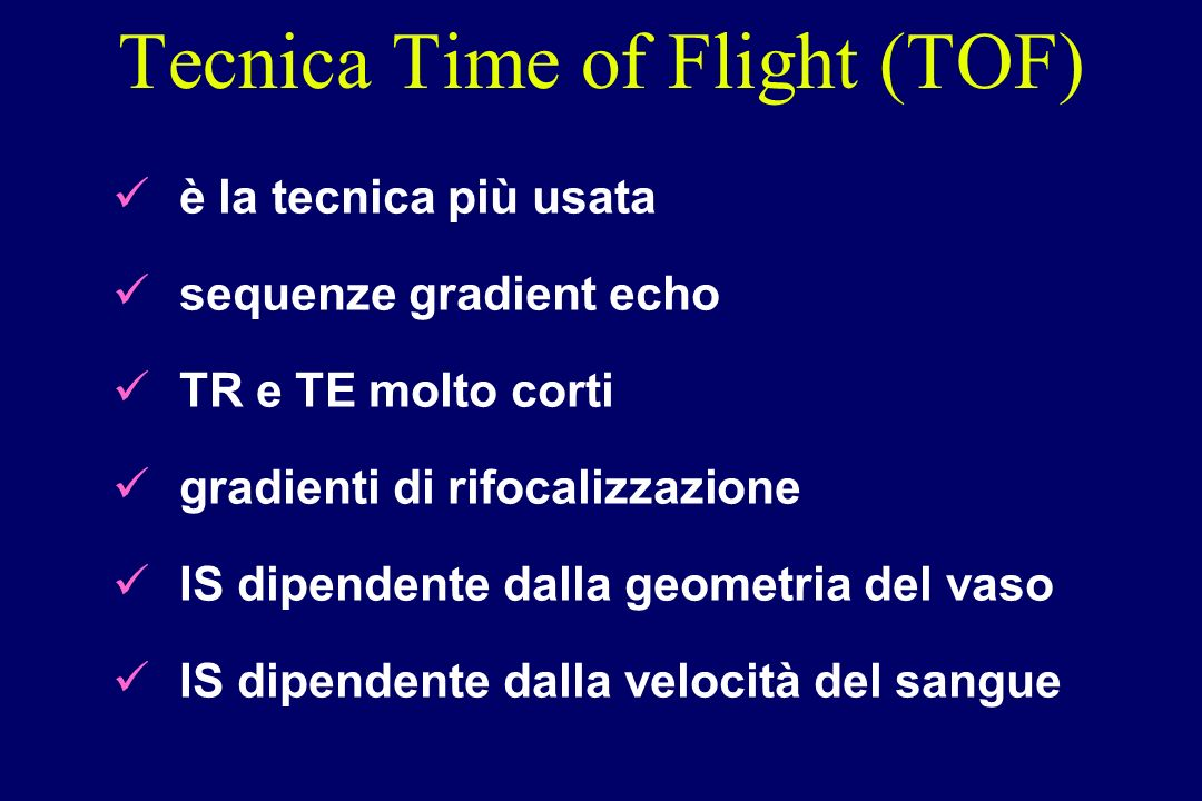 Tecnica Time of Flight (TOF)