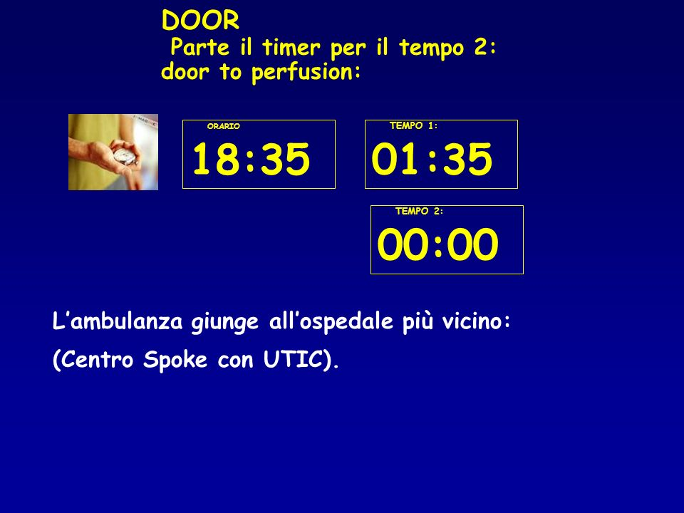 DOOR Parte il timer per il tempo 2: door to perfusion: