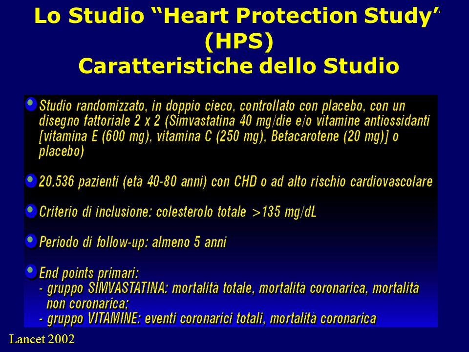Lo Studio Heart Protection Study (HPS) Caratteristiche dello Studio