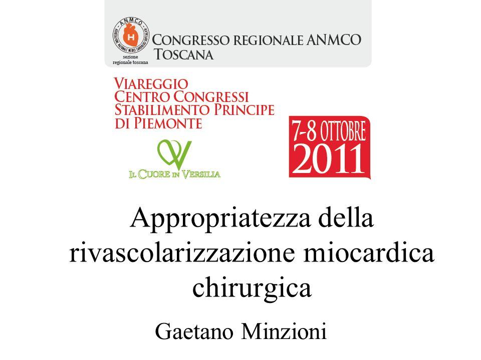 Appropriatezza della rivascolarizzazione miocardica chirurgica