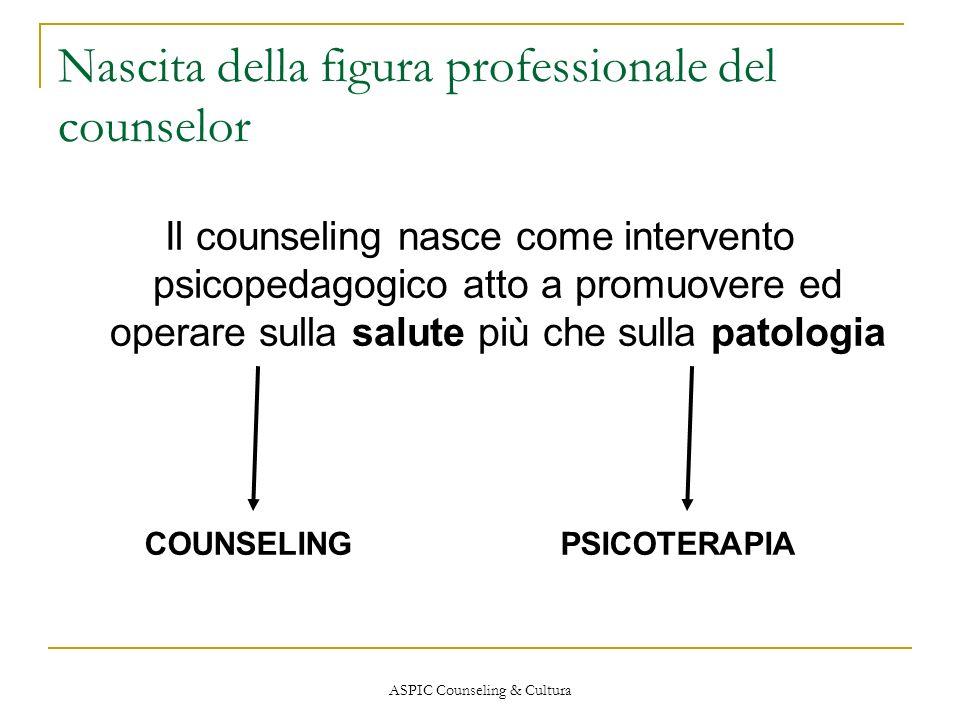 Nascita della figura professionale del counselor