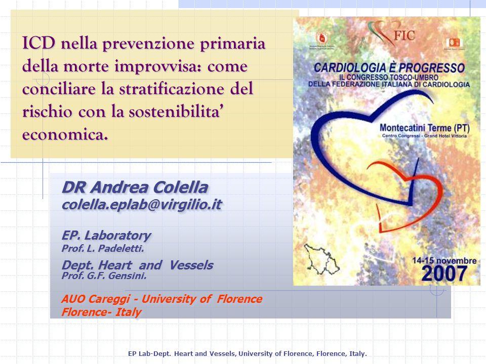 ICD nella prevenzione primaria della morte improvvisa: come conciliare la stratificazione del rischio con la sostenibilita' economica.