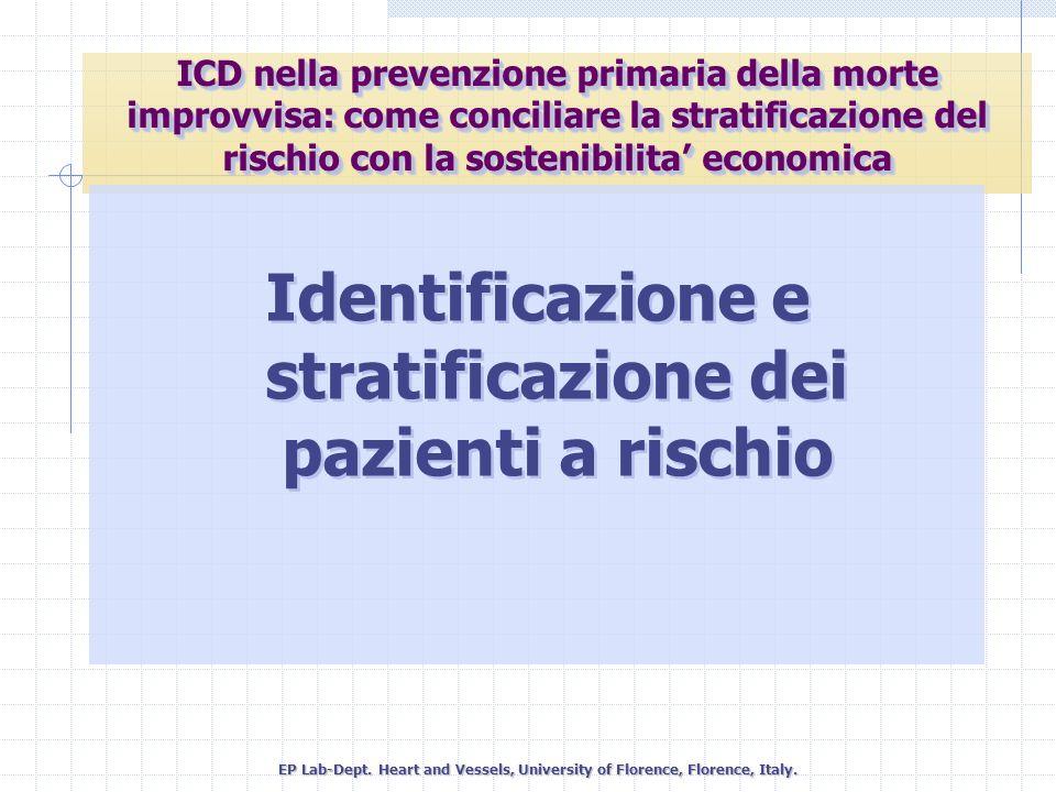 Identificazione e stratificazione dei pazienti a rischio