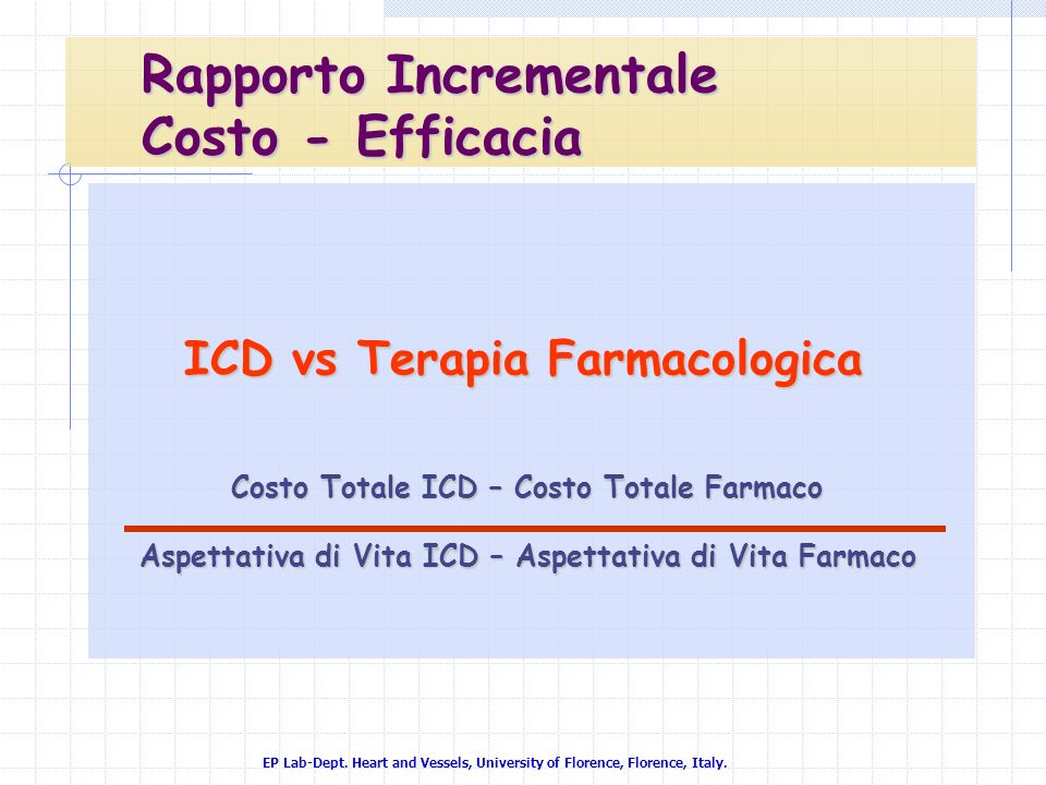 ICD vs Terapia Farmacologica