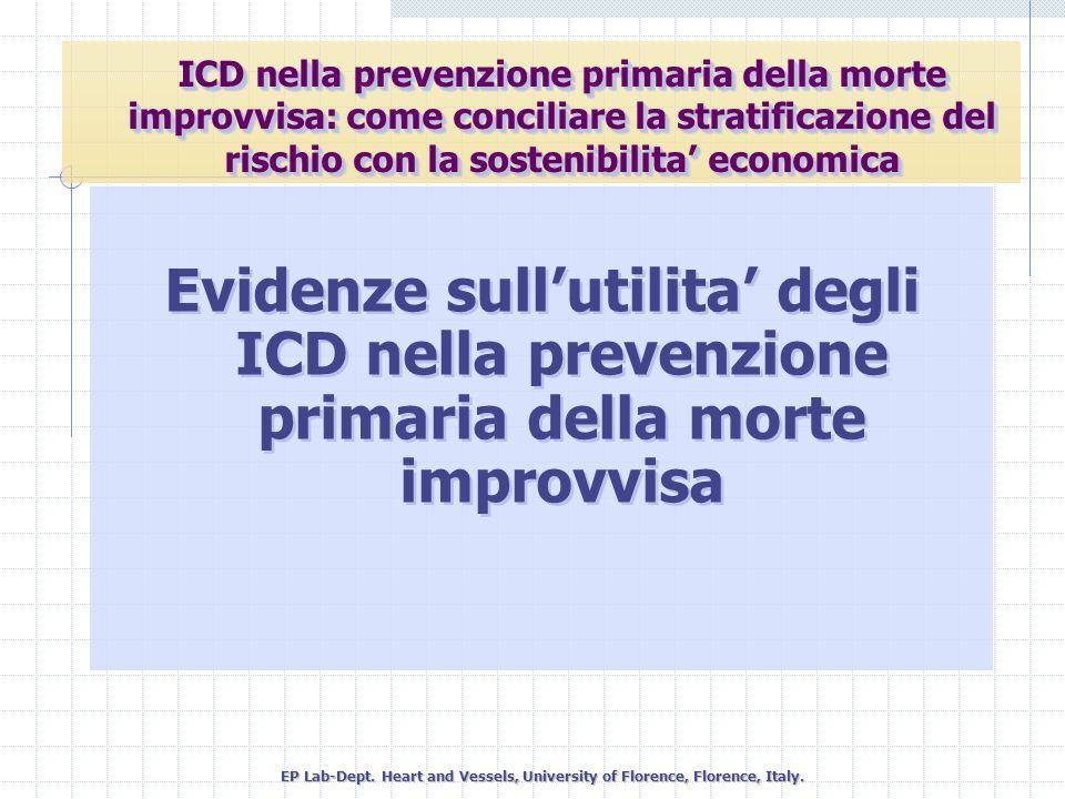 ICD nella prevenzione primaria della morte improvvisa: come conciliare la stratificazione del rischio con la sostenibilita' economica