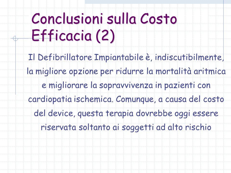 Conclusioni sulla Costo Efficacia (2)