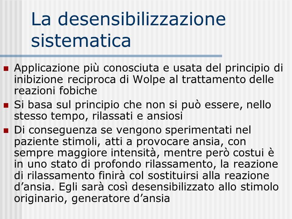 La desensibilizzazione sistematica