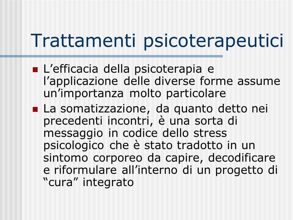 Trattamenti psicoterapeutici