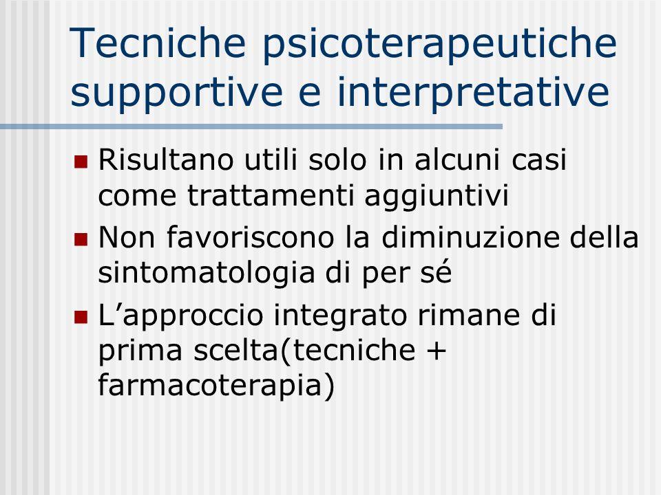 Tecniche psicoterapeutiche supportive e interpretative