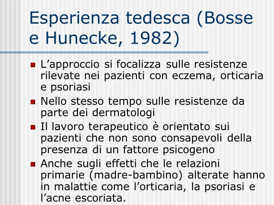 Esperienza tedesca (Bosse e Hunecke, 1982)