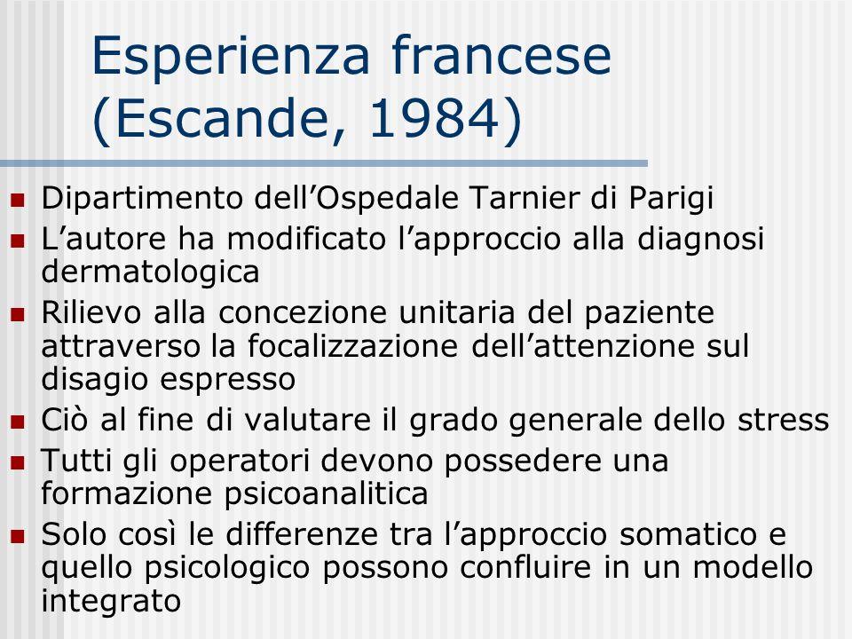 Esperienza francese (Escande, 1984)
