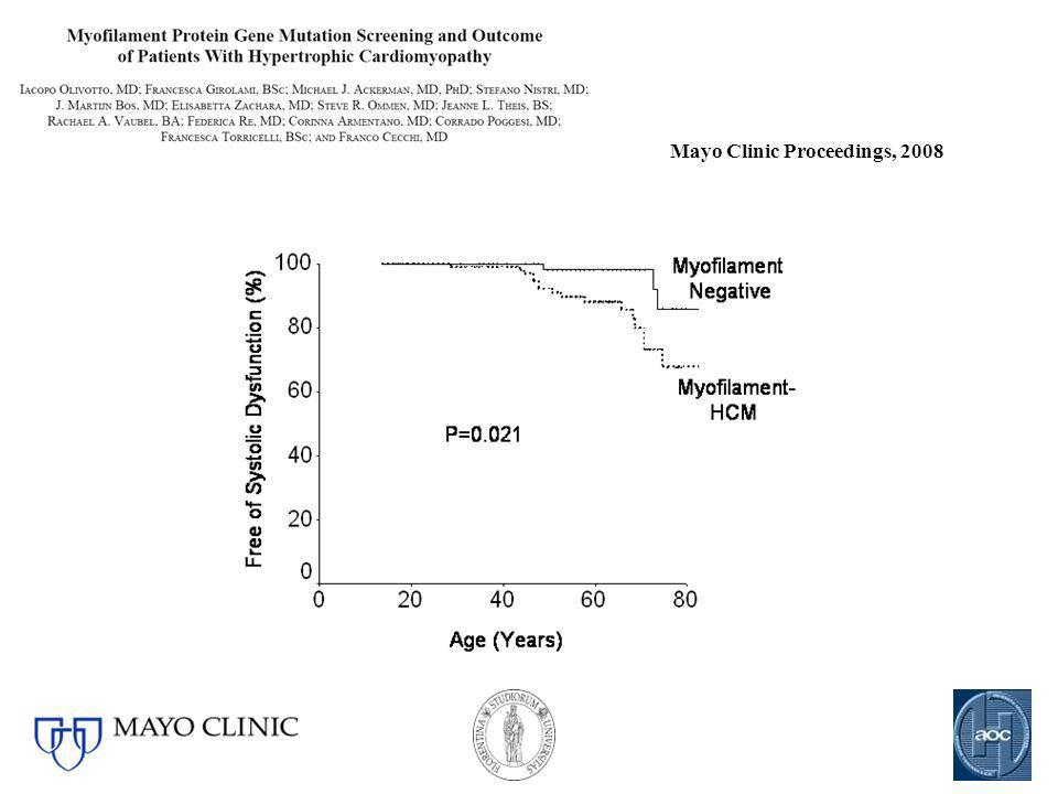 Mayo Clinic Proceedings, 2008