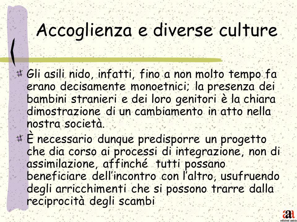 Accoglienza e diverse culture