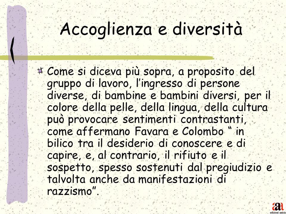 Accoglienza e diversità