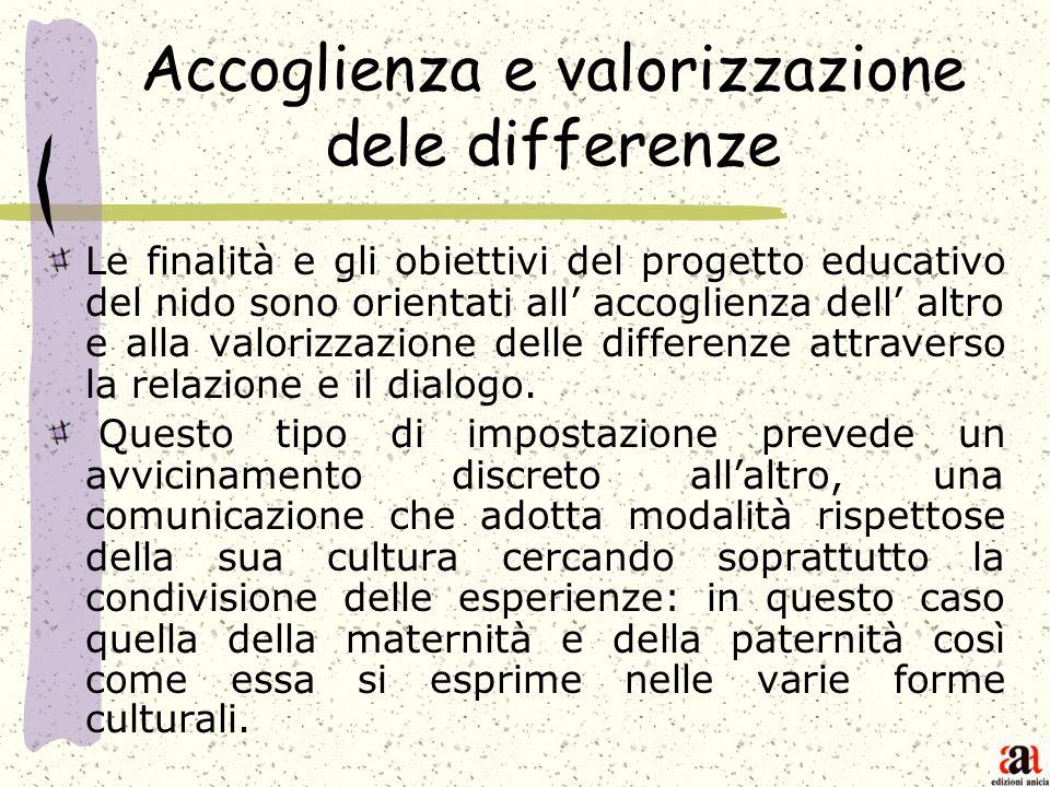 Accoglienza e valorizzazione dele differenze