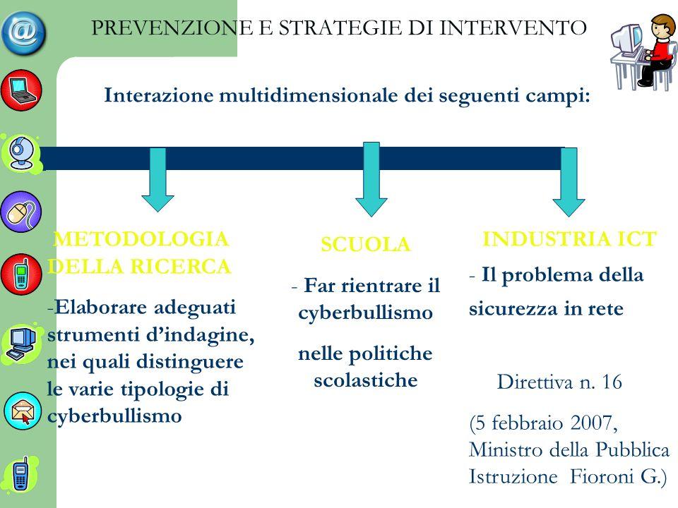 PREVENZIONE E STRATEGIE DI INTERVENTO