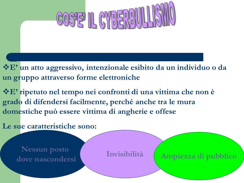 COS'E' IL CYBERBULLISMO