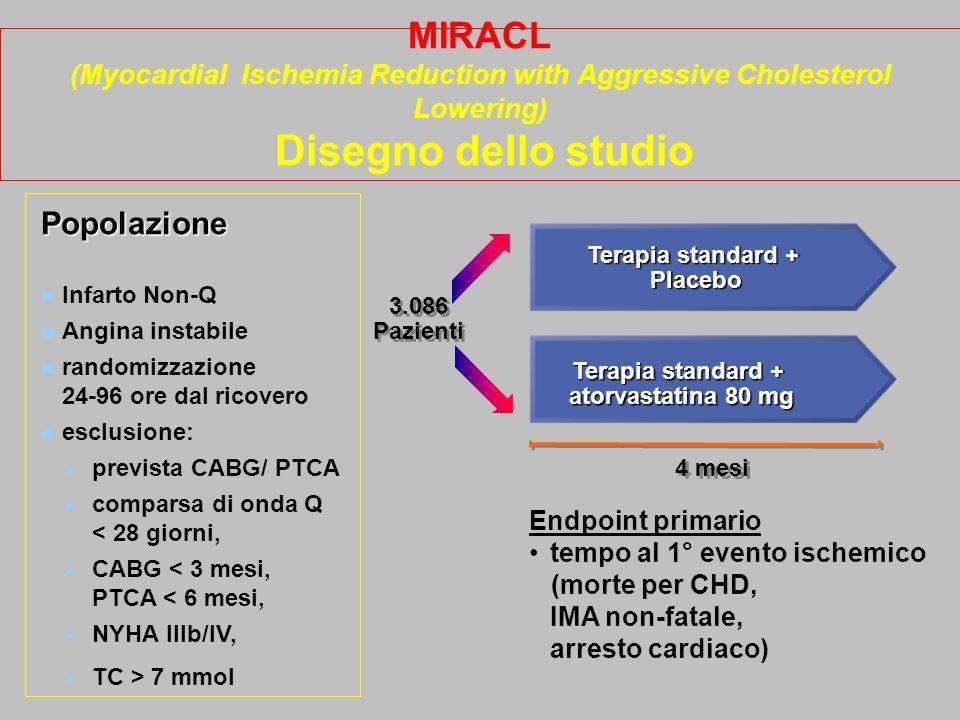 Terapia standard + atorvastatina 80 mg