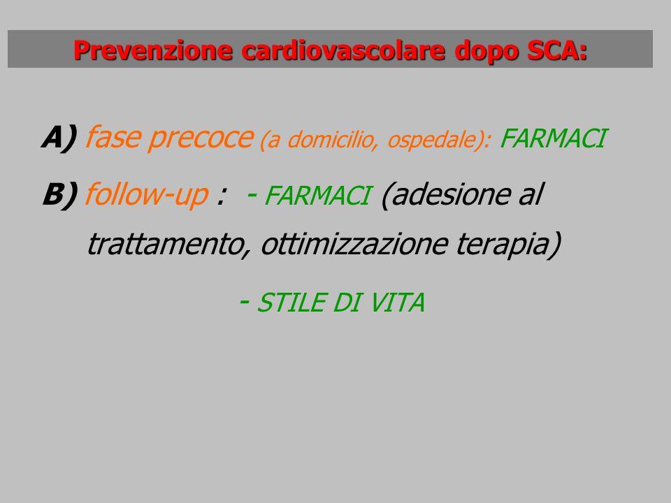 Prevenzione cardiovascolare dopo SCA: